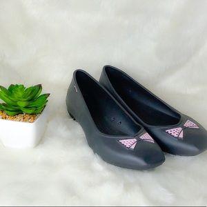 Crocs Gray Bow Ballet Flats